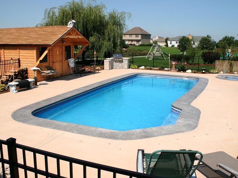 Foust Pool Construction Fiberglass Inground Swimming Pools For Winston Salem Greensboro