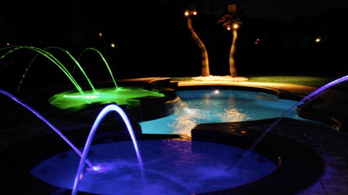 inground pools at night. Inground-swimming-pool-lights06 Inground Pools At Night A