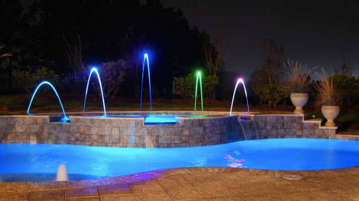 Foust Pool Construction Swimming Pool Lighting For Winston Salem Greensboro Raleigh And